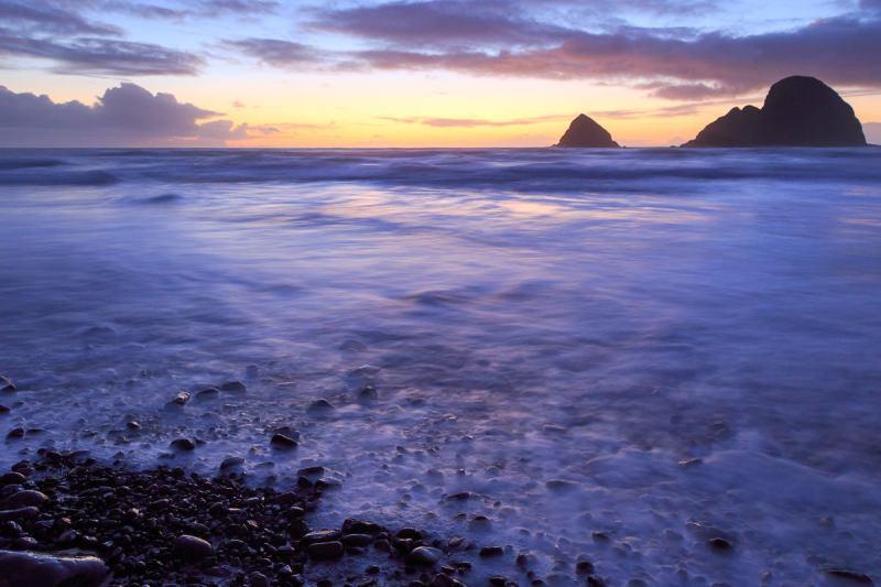 Three Arch Rocks Sunset