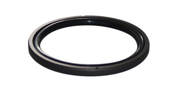 What are the properties of the material used on the oil seal