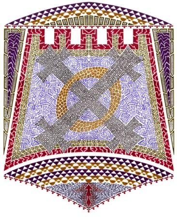 Circle X Mosaic Screen-Print