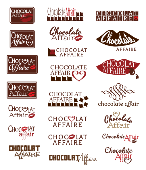 Chocolate Affaire Logo Exploration