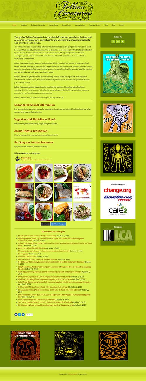 fellowcreatures.com homepage