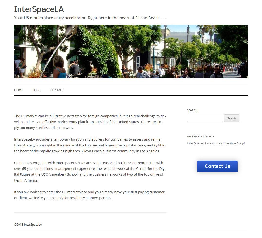 InterSpaceLA Web Design and Implementation