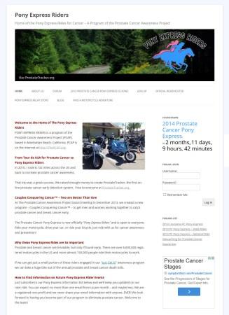 Pony Express Riders Forum Website Design