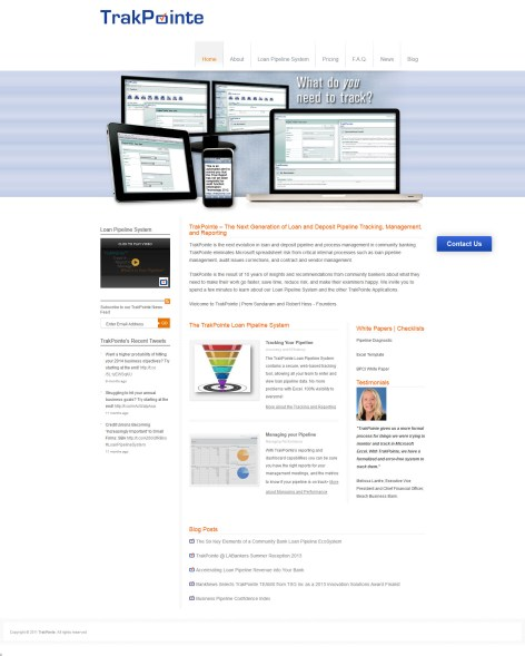 TrakPointe.com Web Design and Implementation