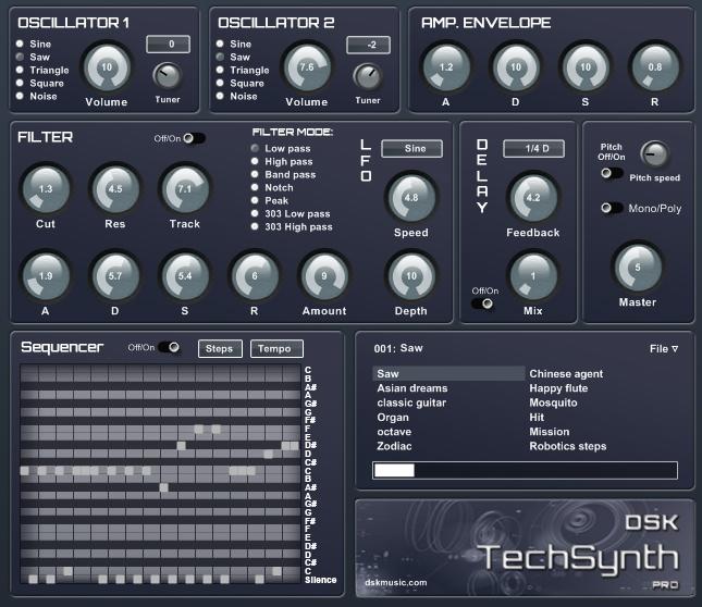 Free VST download DSK TechSynth PRO : DSK Music