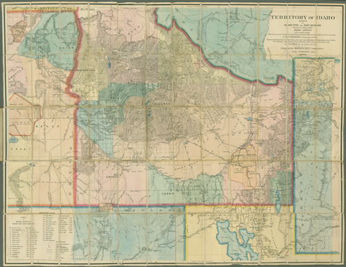 Dorothy Sloan   Rare Books  Auction 23 Exceedingly Rare Large Scale Map of the Western Mining Frontier