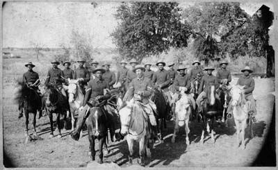 J. M. Stotesburg's Original Photograph of the Black Seminole Scouts on their Mounts, ca. 1890