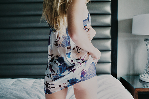 Beautiful Bottoms silk chemise ($135). n
