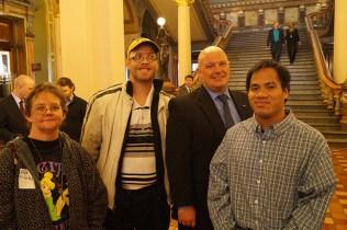 Diana Wallace, Paul Ivins, Senator Jason Schultz, Mark Standley