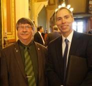 Representative Dean Fisher and Bob Rafferty