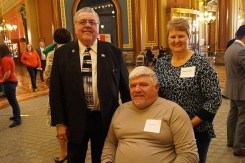 Representative Jerry Kearns, Rick and Jackie Meister