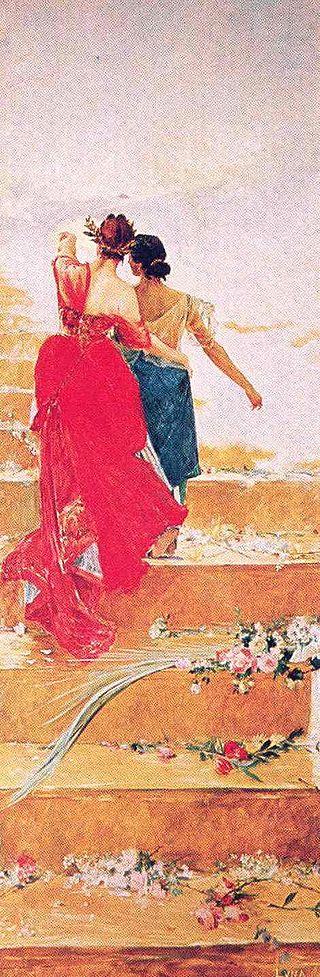 'España y Filipinas', un cuadro de Juan Luna.
