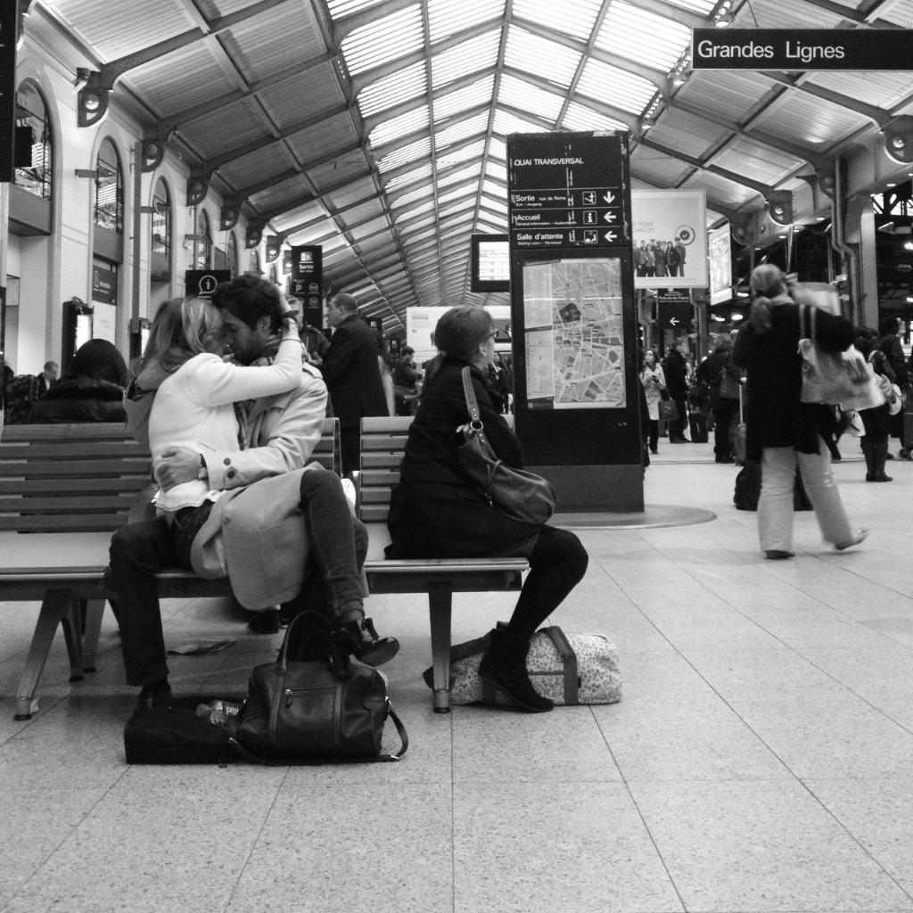 Le baiser de la gare