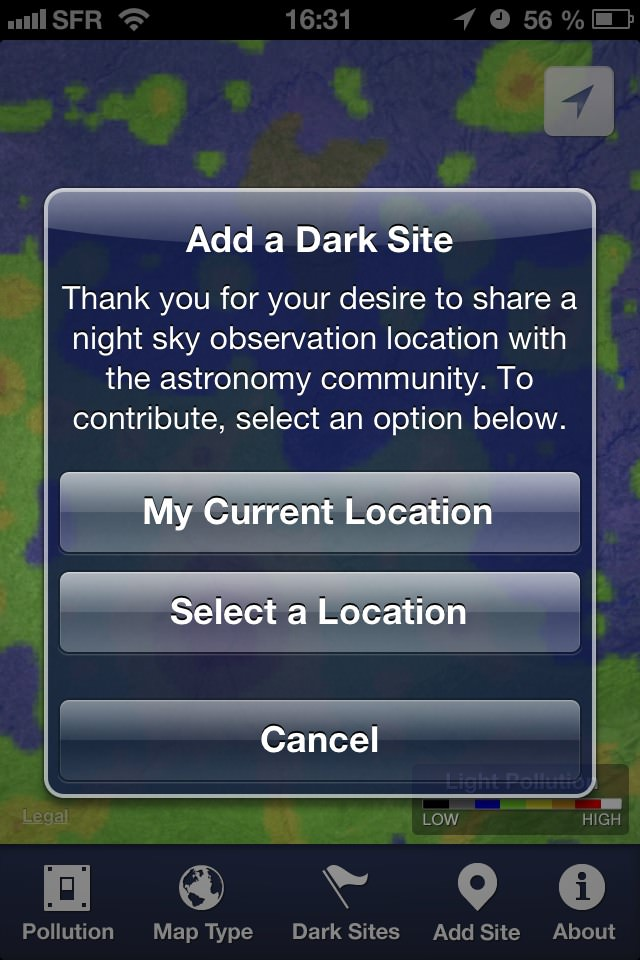Dark Sky pour iPhone