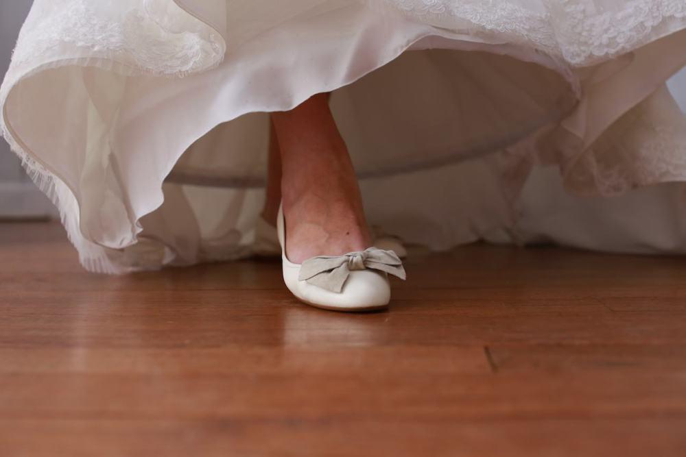 Chaussure de la mariée