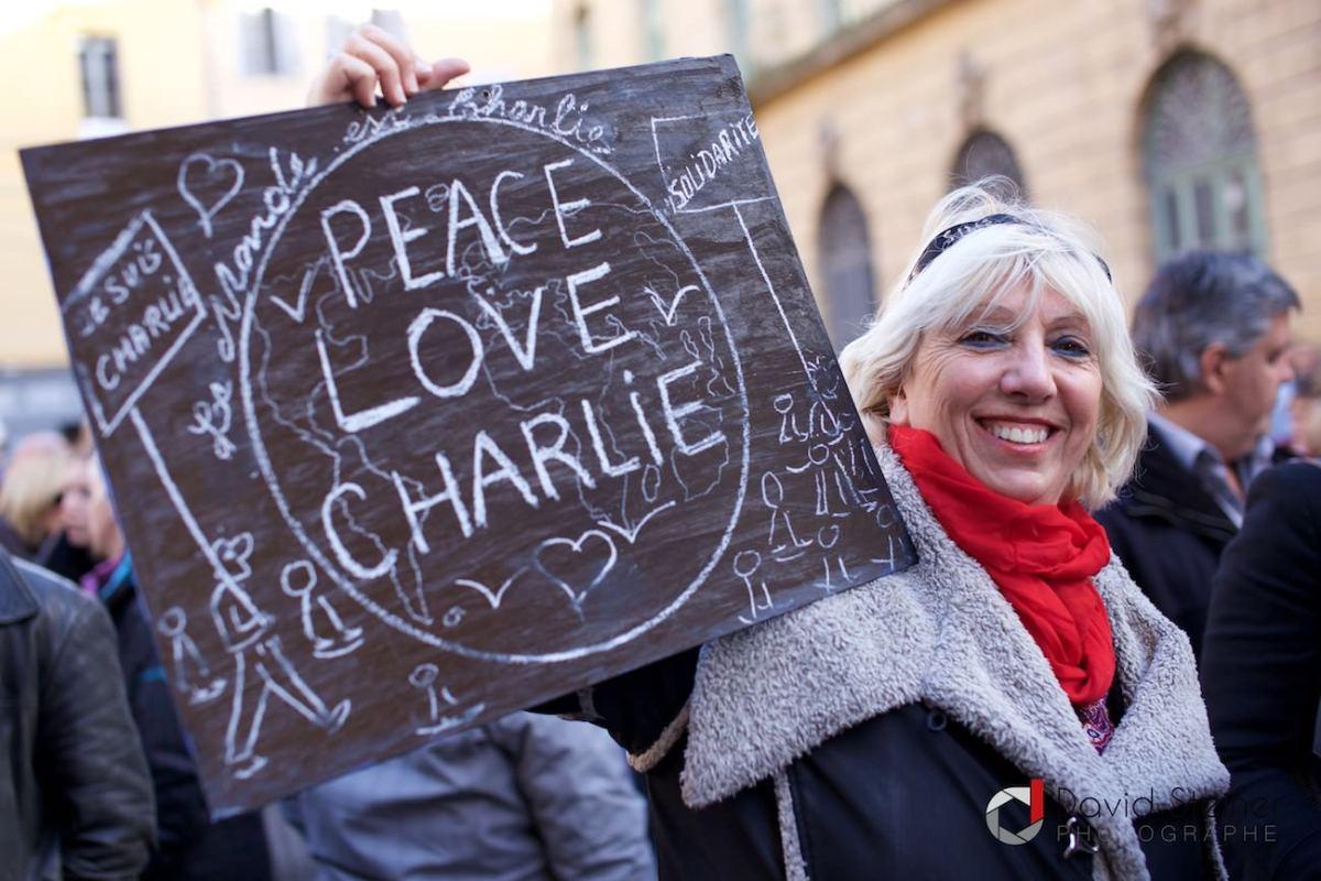 Hommage Aixois à l'équipe de Charlie Hebdo
