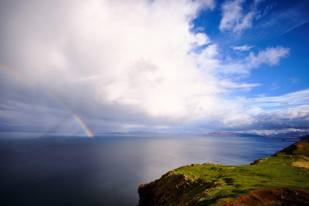 Vue sur la baie à Skye