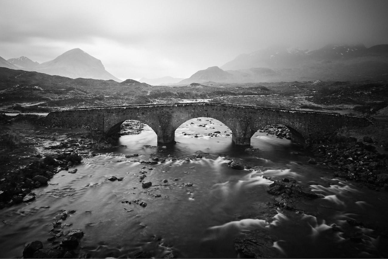 Roadtrip en Ecosse : Pont de Sligachan - île de Skye