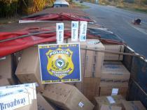 Polícia Rodoviária Federal apreende 40 mil pacotes de cigarros