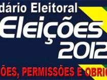 Calendário das eleições municipais de 2012