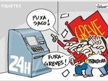 Bancários realizam assembleia: aprovação de greve