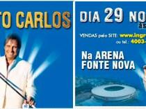 Rei Roberto Carlos se apresenta em Salvador
