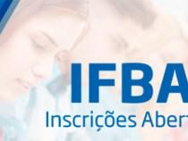 IFBA abre inscrições para concurso