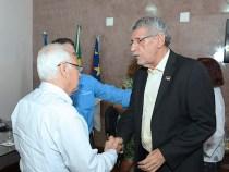 Guilherme Menezes recebe prefeito eleito Herzem Gusmão
