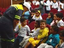 Crianças aprendem sobre o trânsito na Semana Nacional