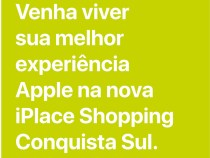 Apple na nova iPlace do Shopping Conquista Sul