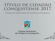 Câmara entrega Títulos de Cidadão Conquistense