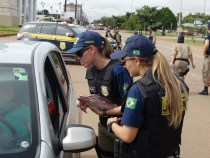 Drone e helicóptero reforçam fiscalização de trânsito no São João