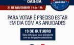 Aberto processo de eleições da OAB 2018