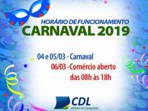 Bancos, comércio e repartições fechadas no carnaval