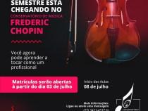 Conservatório Frederic Chopin inicia matrículas do segundo semestre