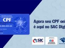 SAC Digital passa a emitir CPF e outros documentos pessoais de forma on-line