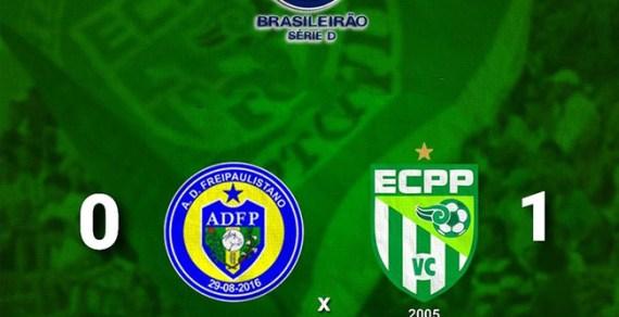 ECPP 1 X 0 Frei Paulistano em Sergipe pela segunda rodada do Grupo 4 da série D