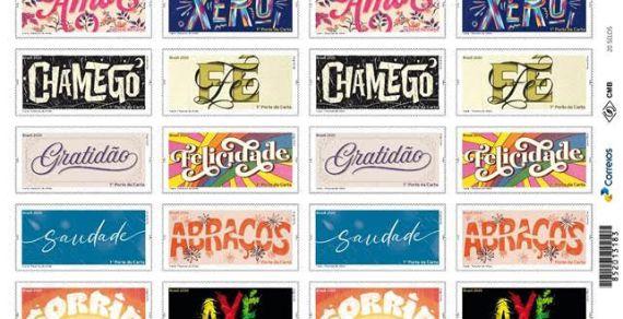 Palavras de afeto ilustram a Emissão de selos na edição Comemorativa Natal 2020