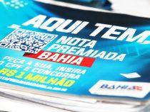 Sorteio da Nota Premiada Bahia contempla 91 ganhadores