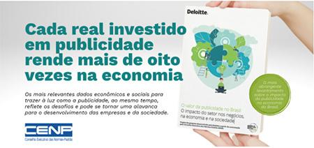 Cada real investido em publicidade rende mais de oito na economia brasileira