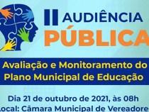 Inscrições abertas para Audiência Pública sobre o Plano Municipal de Educação