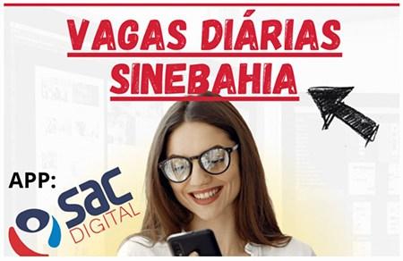 SINE Bahia anuncia vagas de emprego para várias cidades da Bahia