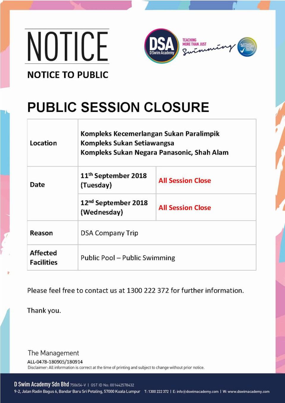 Public-Closure-DSA-Company-Trip