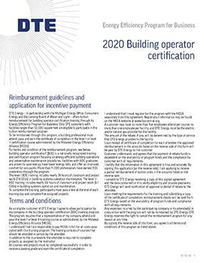 Building Operator Worksheet