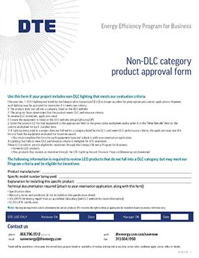 Non-DLC Product Approval Form