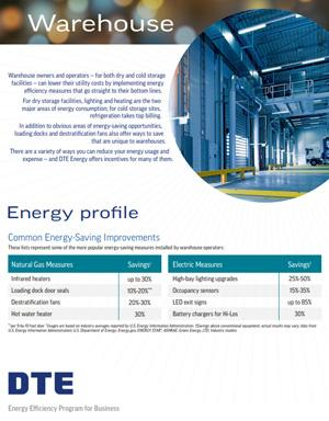 warehouse energy profile