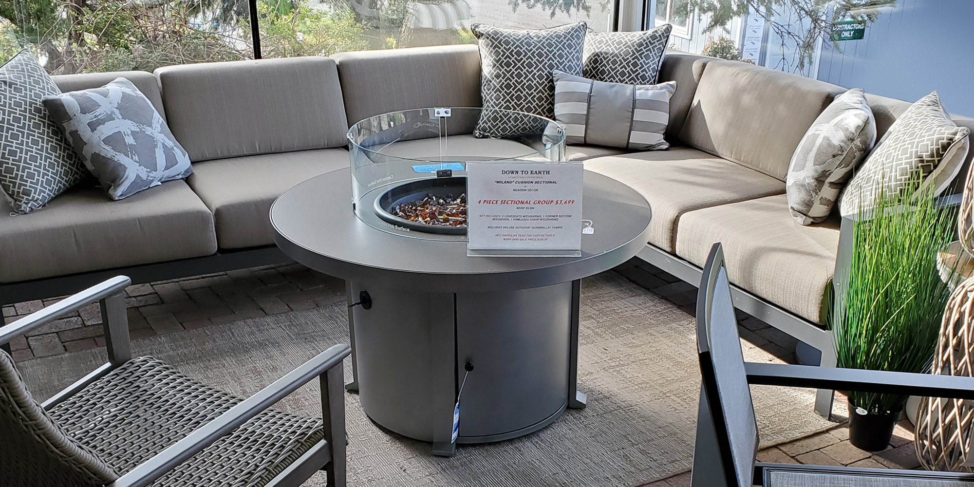 outdoor and patio furniture down to