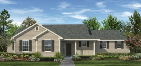 1 401 Sq Ft House Plan   3 Bed 2 Bath  1 Story   The Willowbend     The Willowbend