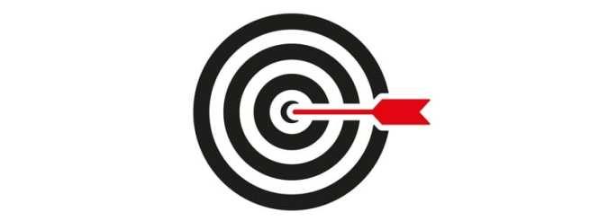 The target icon. Target symbol. Flat Vector illustration