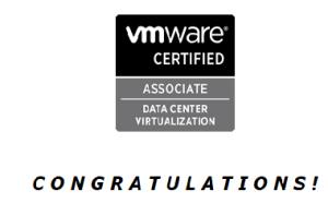 VMWARE Certified Associate Data Center Virtualization